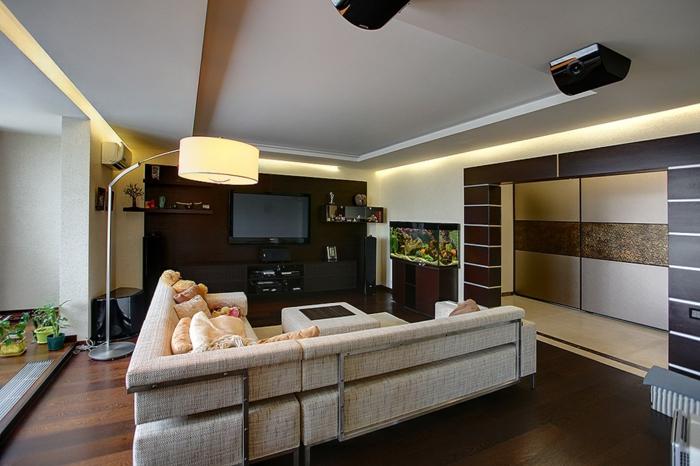intérieur-classiquelampadaire-pour-salon-design-idées-déco-salle-de-séjour