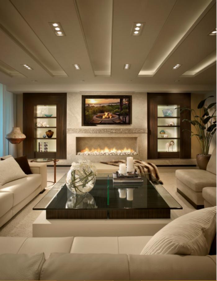intérieur-design-canapé-très-confortable-idée- gran- confort-cheminée
