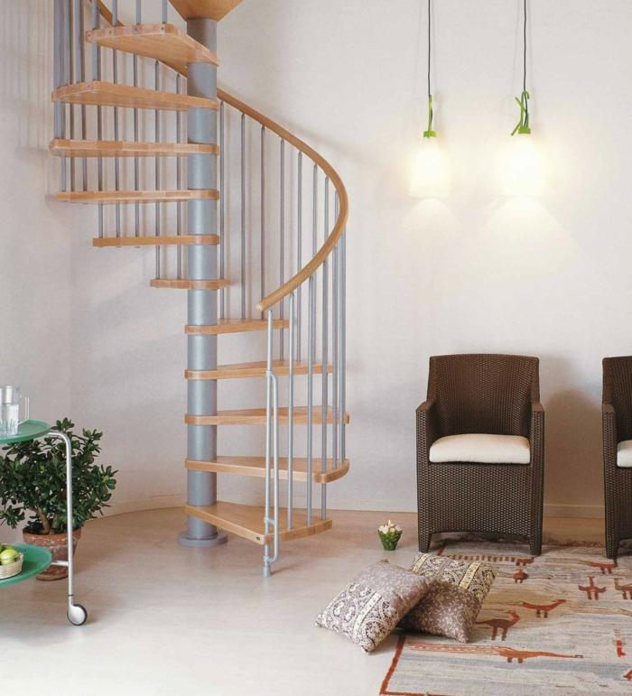 l 39 escalier tournant en 40 jolies photos. Black Bedroom Furniture Sets. Home Design Ideas