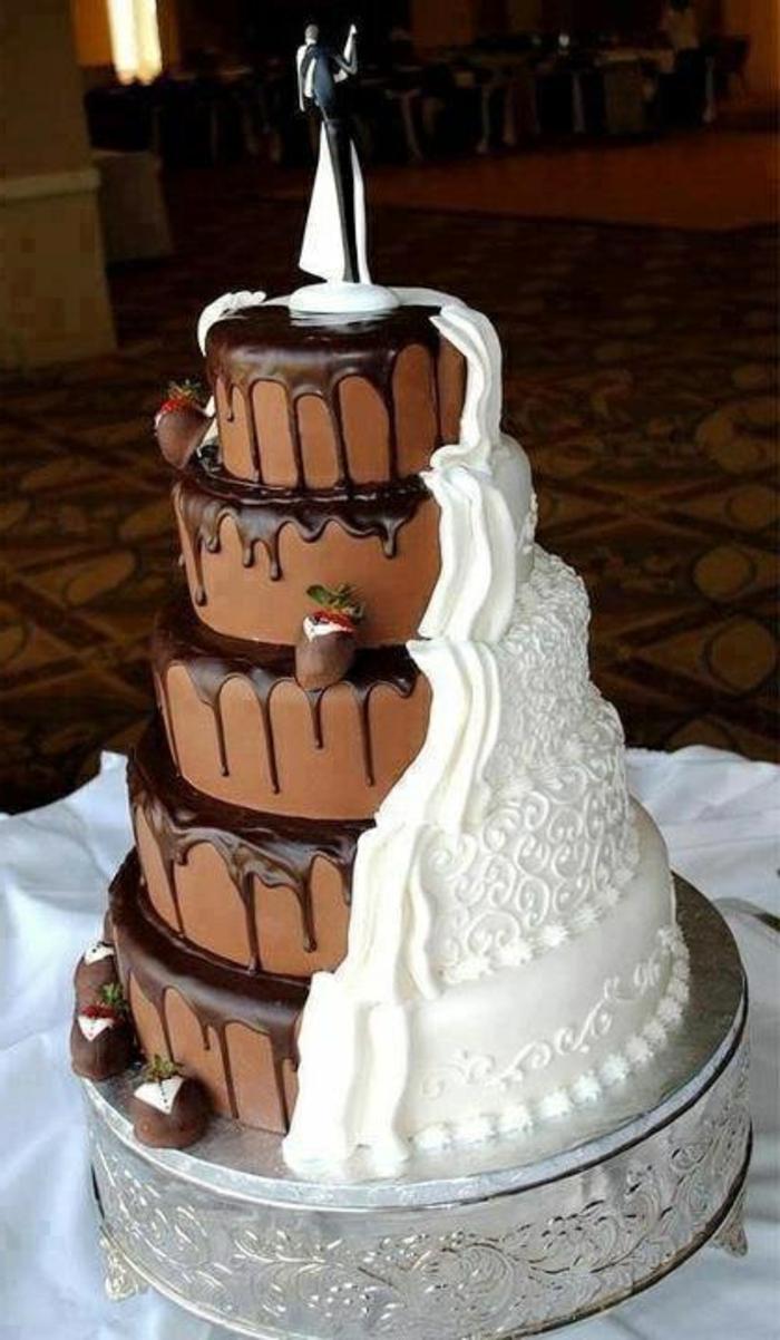 joli-gâteau-de-mariage-au-chocolat-et-vanille-blanc-et-marron-gâteau-de-mariage