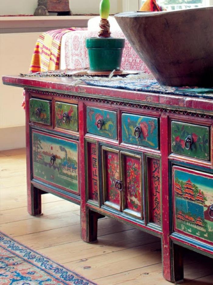 Comment repeindre un meuble une nouvelle apparence - Meuble colore ...