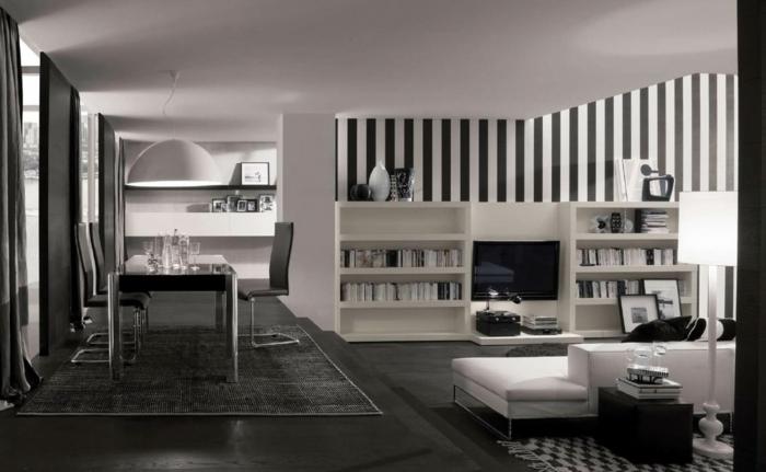 le papier peint noir et blanc est toujours un singe d 39 l gance. Black Bedroom Furniture Sets. Home Design Ideas