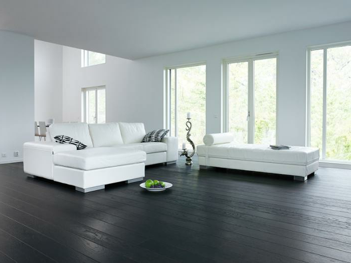 salon en parquet latest salon avec parquet au sol with. Black Bedroom Furniture Sets. Home Design Ideas