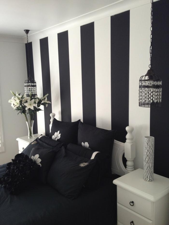 Le papier peint noir et blanc est toujours un singe d for Chambre noire et blanc