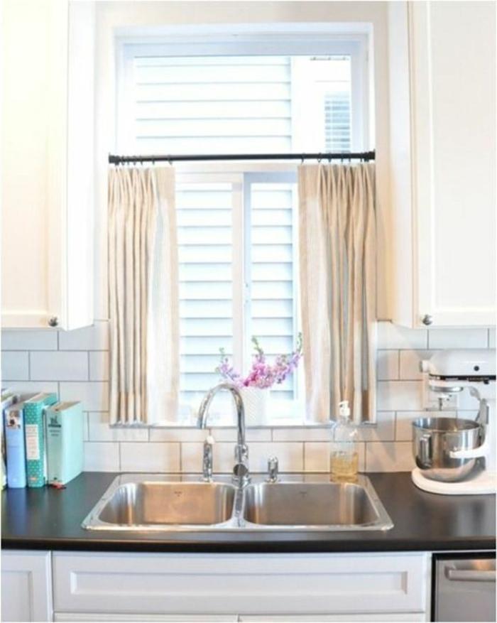 Rideau pour cuisine design sundautumn rideaux voilages de fentre roman passant rglable avec Rideau cuisine design