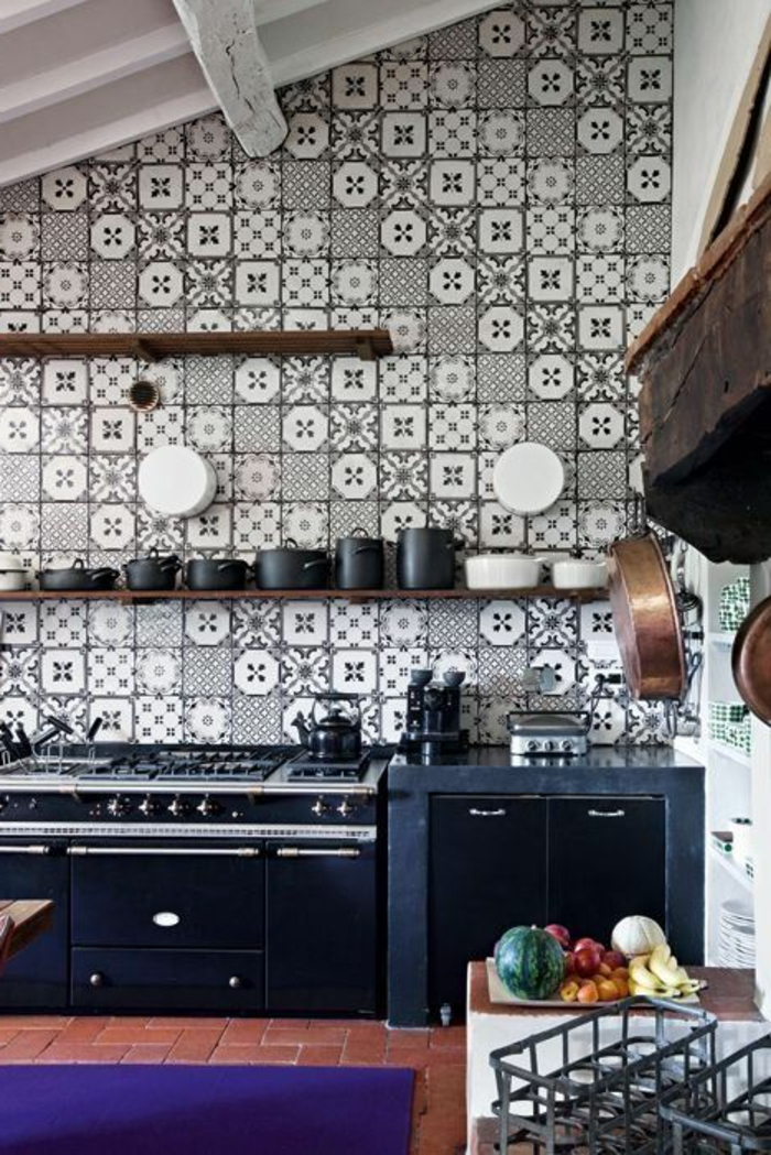 vous cherchez des id es pour un carrelage noir et blanc. Black Bedroom Furniture Sets. Home Design Ideas