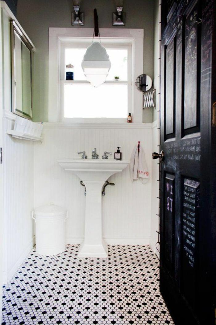 Vous cherchez des id es pour un carrelage noir et blanc - Faience salle de bain noir et blanc ...