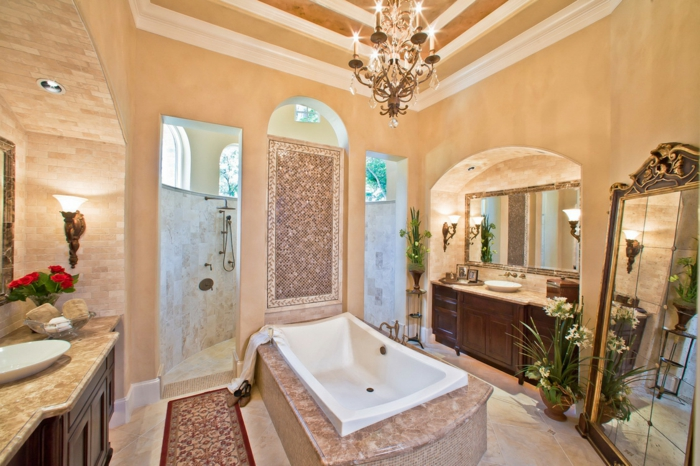 Salle de bain beige et blanche de bain blanche et marron for Salle de bain blanche et marron