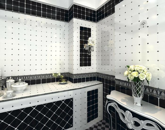 Vous cherchez des id es pour un carrelage noir et blanc - Mosaique pour salle de bain pas cher ...