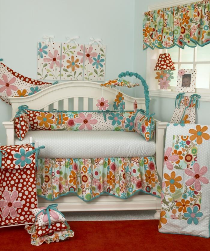 l-idée-chambre-bébé-fille-linge-de-lit-bébé-fille-cool