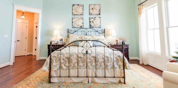 la-chambre-à-coucher-ado-idée-déco-chambre-lit-en-fer