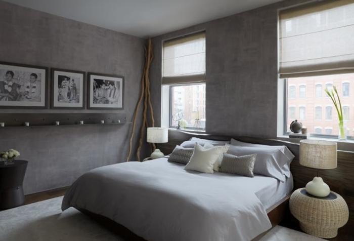 la-chambre-gris-avec-détail-choc-couleur-cool