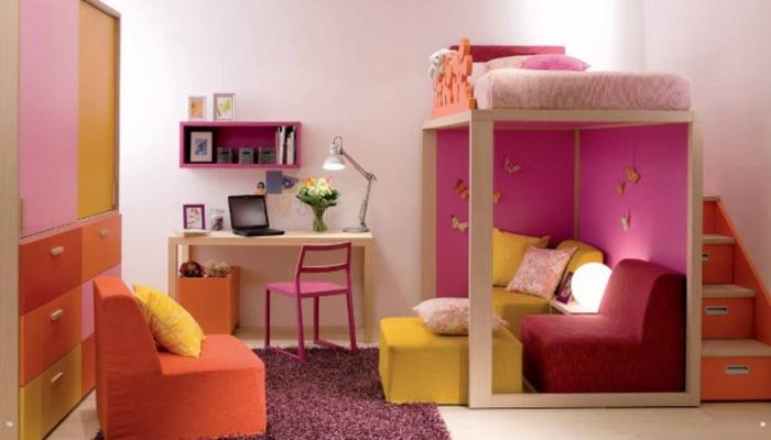 la-déco-le-lit-dans-la-chambre-enfant-taie-oreiller-enfant-en-rose