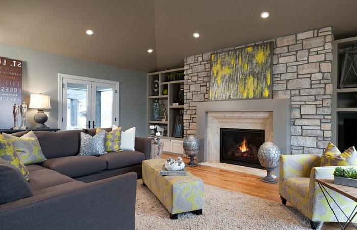 la-décoration-de-votre-salon-bien-aménagé-lampedaire-cheminée-cool