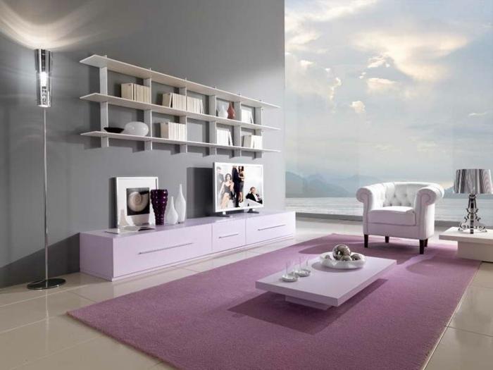 la-décoration-de-votre-salon-bien-aménagé-lampedaire-rose-tapis