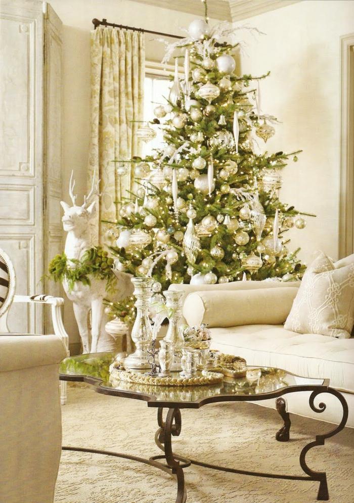 la-décoration-noël-deco-de-noel-décorations-de-noel-vert-et-blanc