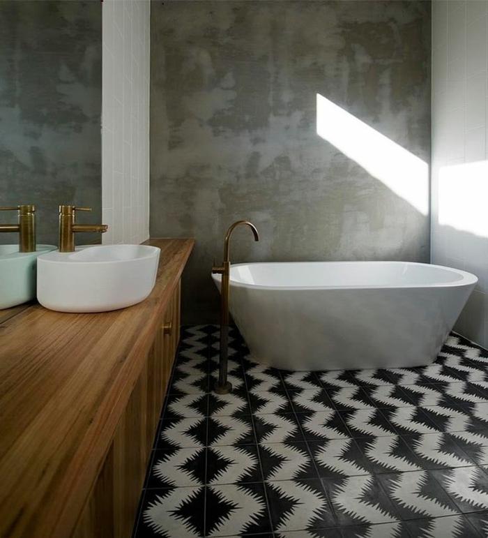 Vous cherchez des id es pour un carrelage noir et blanc for Plus belle salle de bain