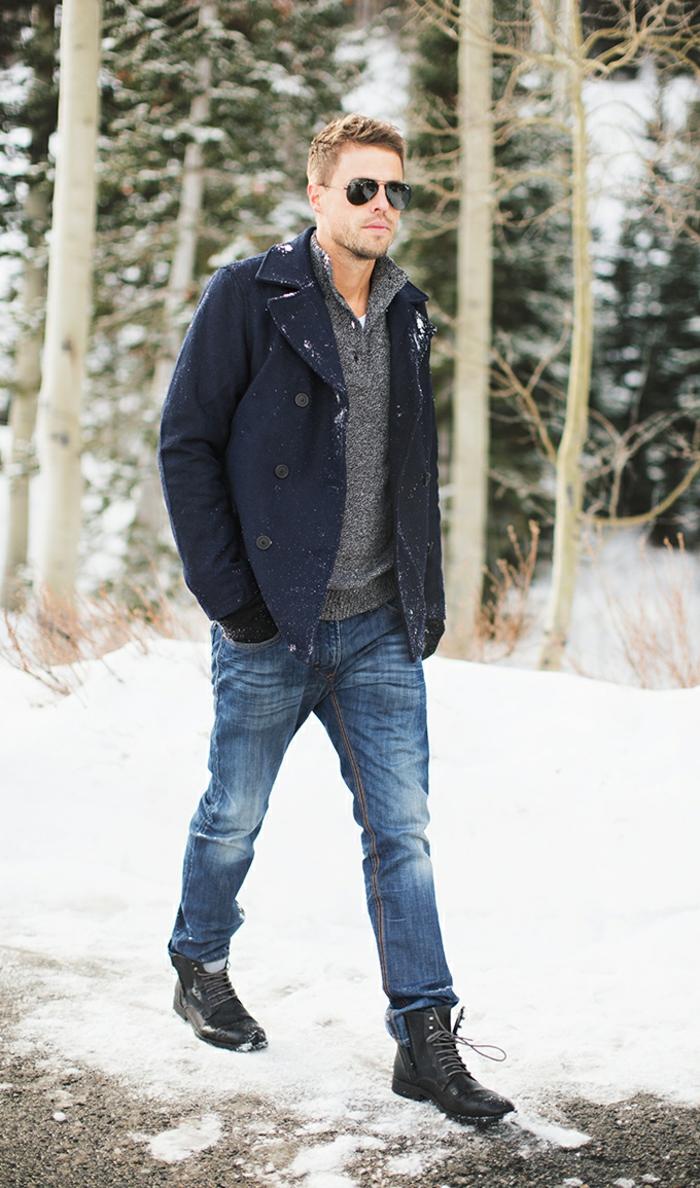 le-caban-laine-homme-manteau-homme-temps-froid-beau-foret-neige