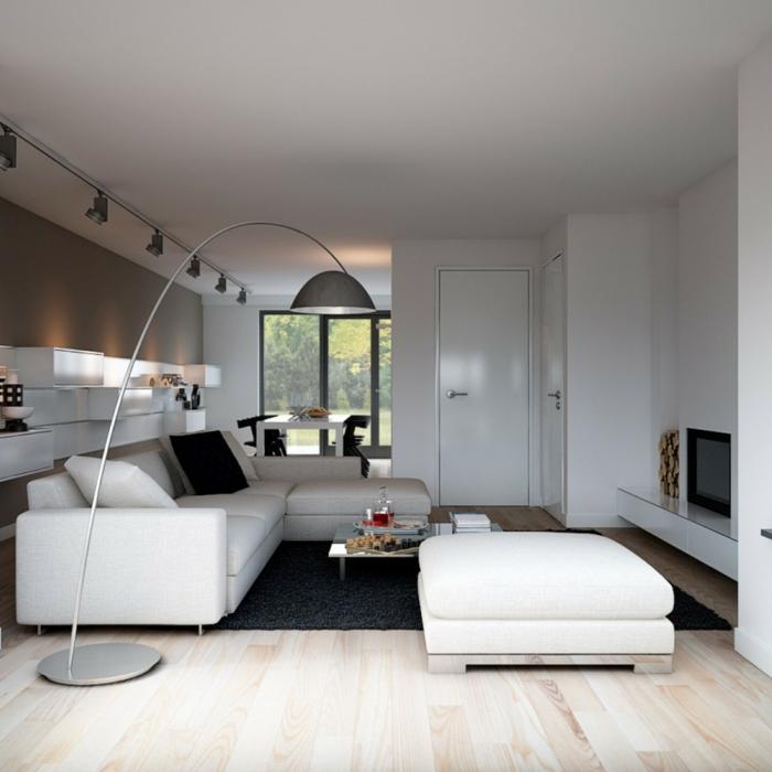 le-lampadaire-pour-salon-design-idées-déco-salle-de-séjour-arc