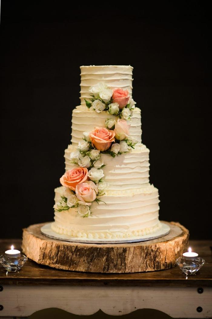 le-meilleur-gâteau-de-mariage-au-vanille-et-decoration-en-fleurs ...