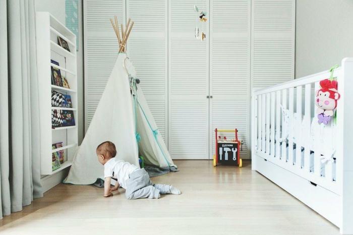 le-tipi-enfant-tente-de-lit-idée-intérieur-chambre-enfant-à-faire-bébé-mignon