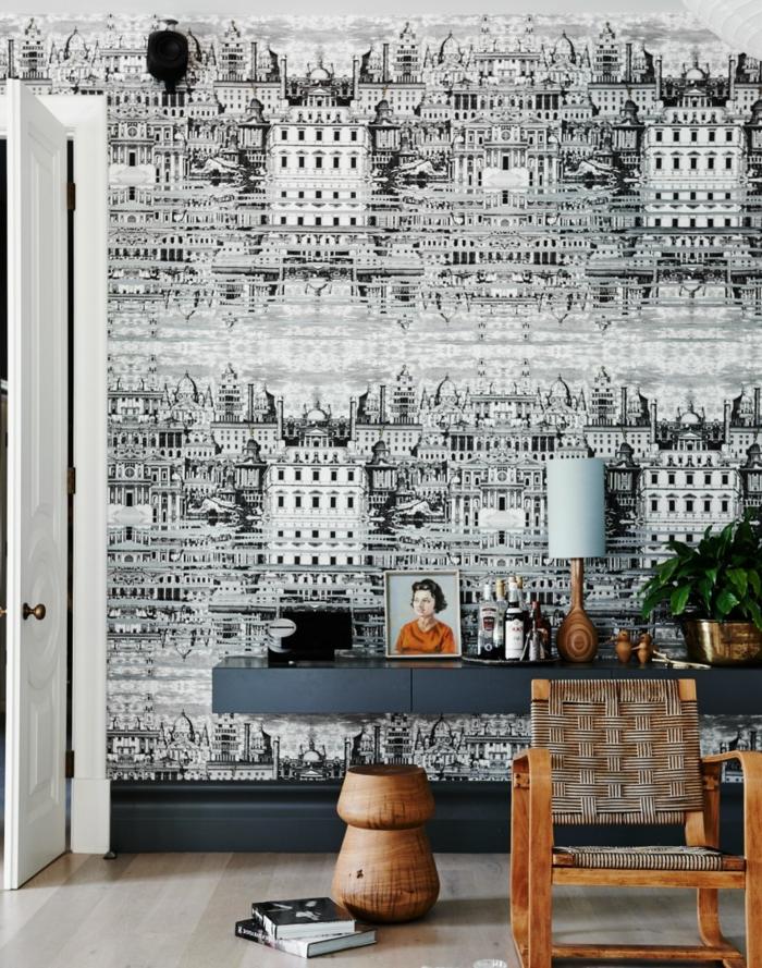 leroy-merlin-louvroi-papiers-peints-leroy-merlin-blanc-noir-dans-le-salon-moderne-chaise-en-bois-et-rotin