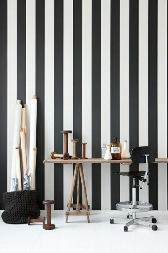 Parfait Le Papier Peint Noir Et Blanc Est Toujours Un Signe Du0027élégance! Savourer  Les Meilleures Variantes En 40 Photos!