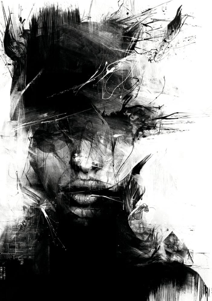 les-arts-graphiques-art-graphique-dessin-impression-visage