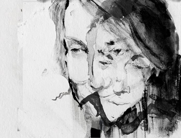 les-arts-graphiques-art-graphique-dessin-pluie-visage