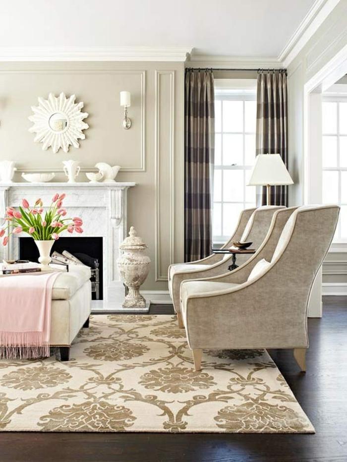 les-tapis-de-salon-moderne-idées-aménagement-salon-couverture-rose