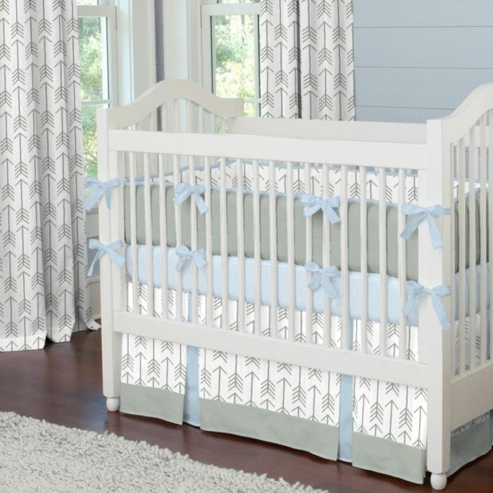 linge-de-lit-bébé-garçon-linge-de-lit-bebe-bleu-et-gris