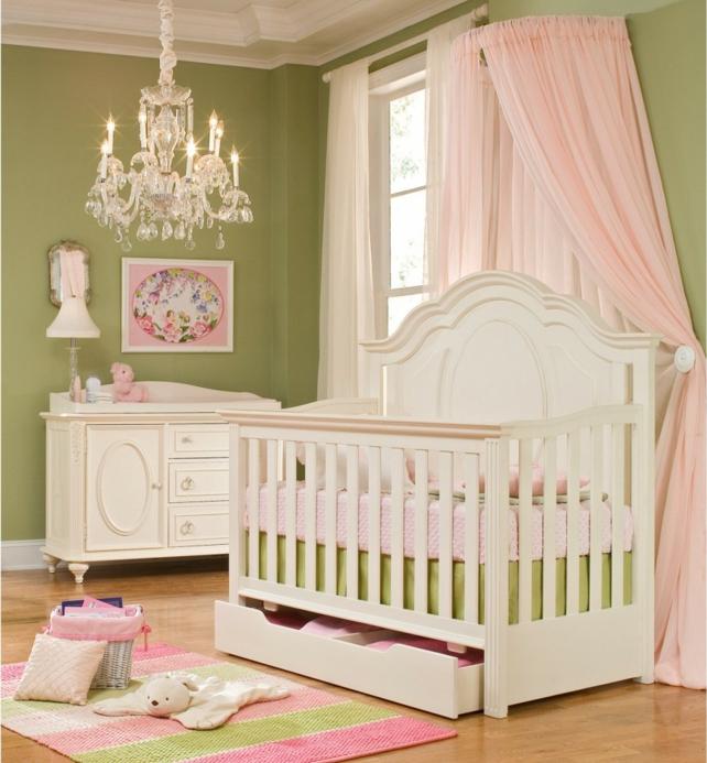 linge-de-lit-bébé-garçon-linge-de-lit-bebe-chambre-en-rose-et-vert