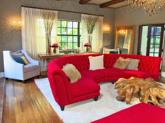 red sofa living room ideas int 233 rieurs avec un canap 233 arrondi un meuble pratique et 18534