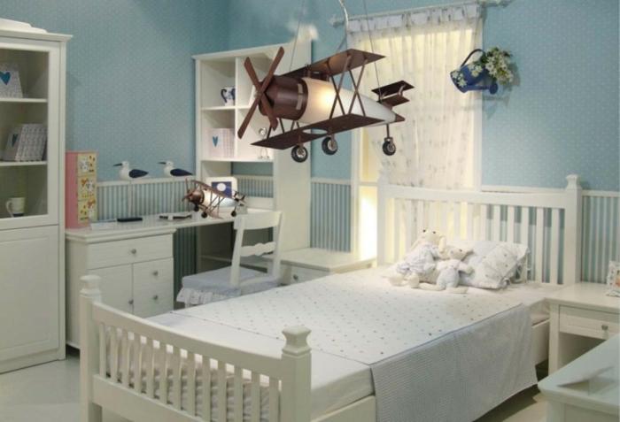 lustre-chambre-bébé-déco-chamber-bébé-magnifique-avion-chambre-garçon