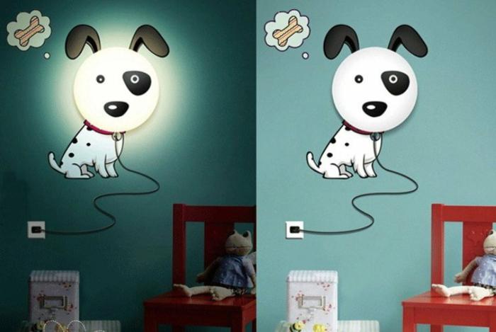 lustre-chambre-bébé-déco-chamber-bébé-magnifique-chien