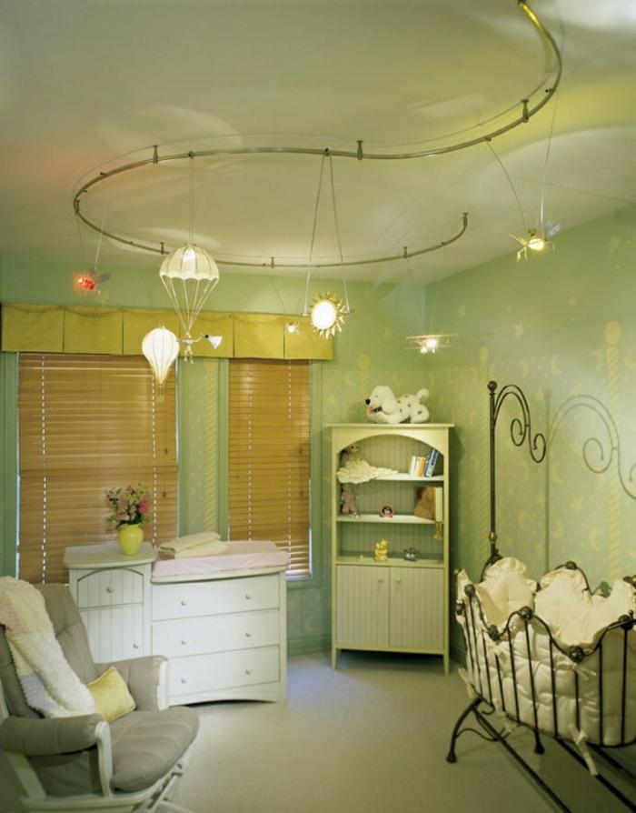 lustre-chambre-bébé-déco-chamber-bébé-magnifique-idée-bébé