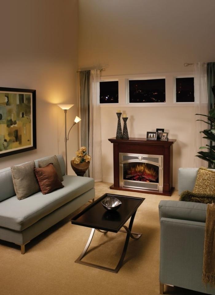 Le poêle à bois  40 idées pour changer lintérieur et se réchauffer! -> Amenagement Poele Avec Tv