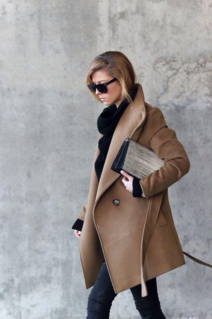 110aff8844 Le manteau camel - une classique indémodable! - Archzine.fr