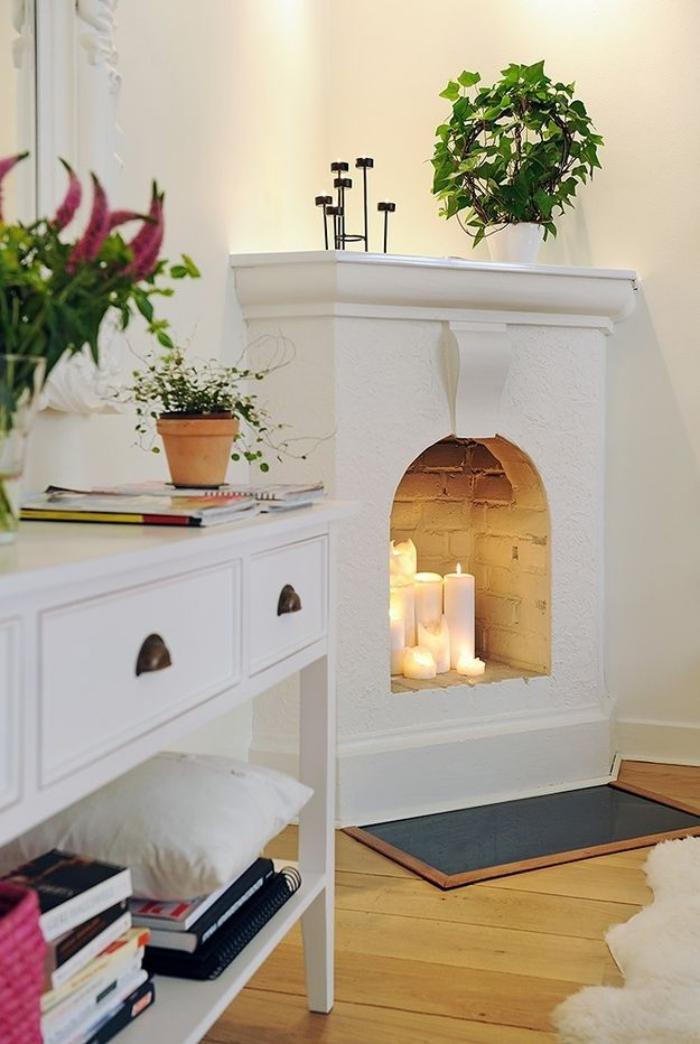 manteau-de-cheminée-blanc-coin-déco-magnifique