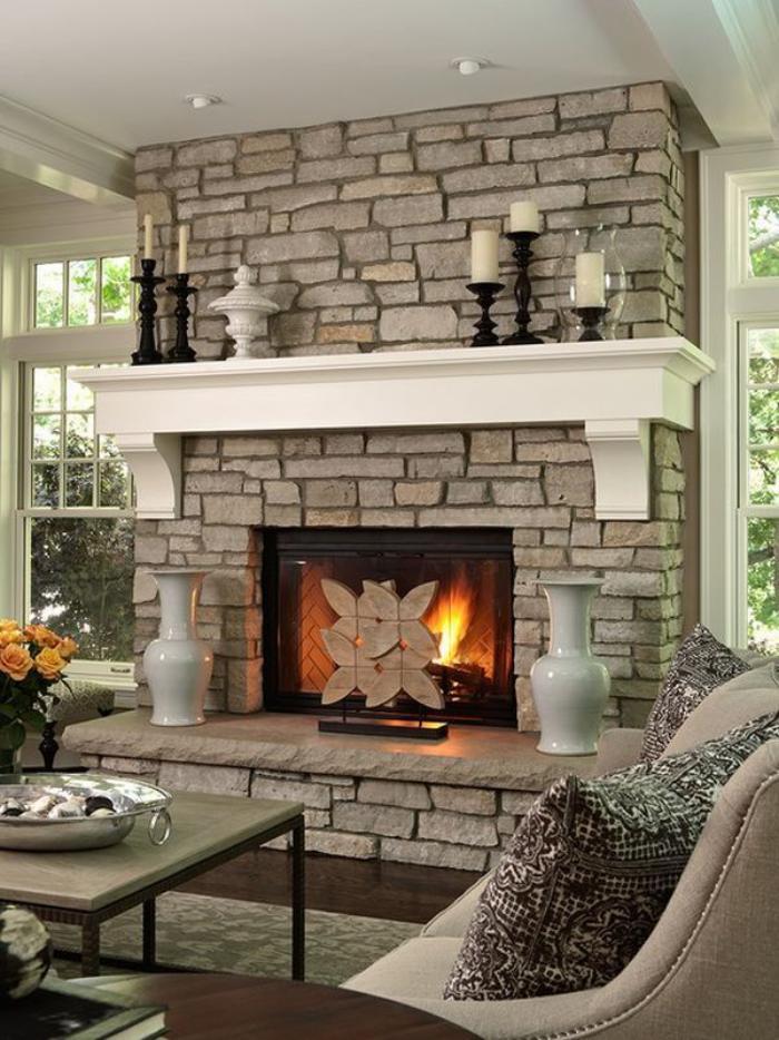 manteau-de-cheminée-classique-intérieur-traditionnel