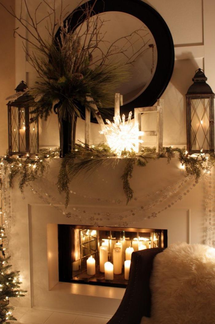manteau-de-cheminée-décoration-fantastique-avec-manteau-de-cheminée-blanc