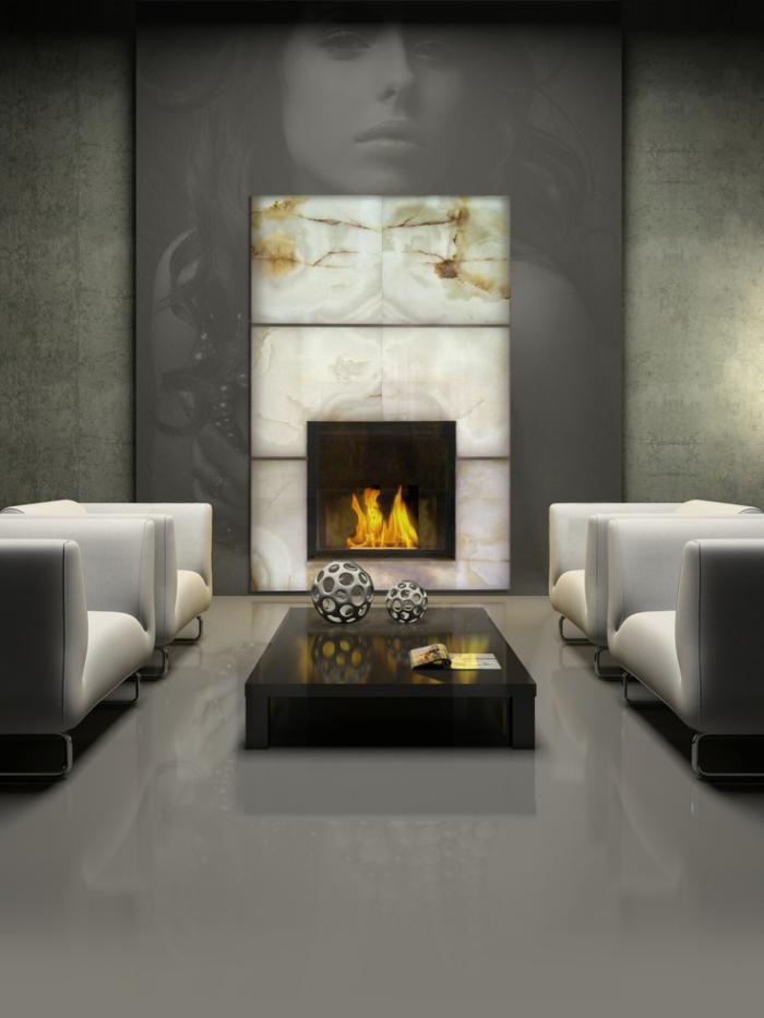 manteau-de-cheminée-intérieur-moderne-gris-salon-insolite