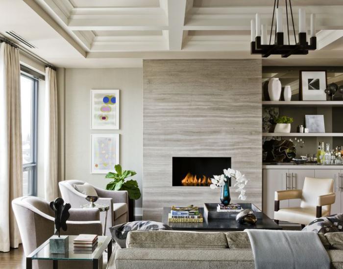 manteau-de-cheminée-moderne-salle-de-séjour-épuré