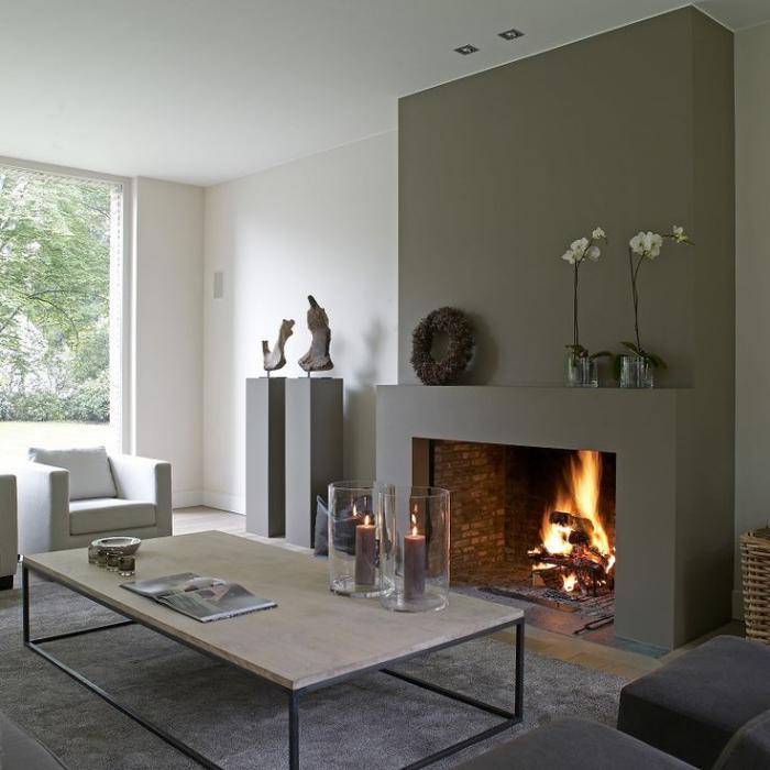 Comment d corer son manteau de chemin e galerie d 39 id es - Peindre son salon en gris et blanc ...