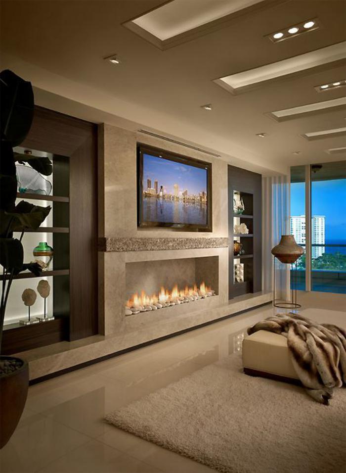 manteau-de-cheminée-rectangulaire-tv-monté-au-mur-salon-moderne