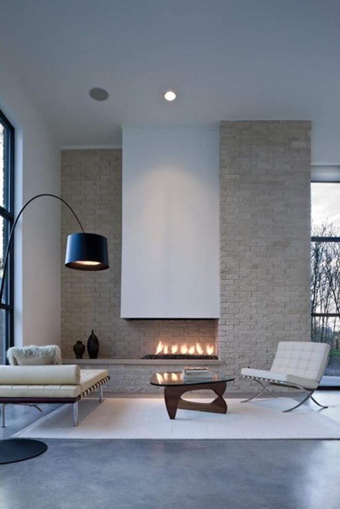 manteau-de-cheminée-style-contemporain-salon-minimaliste-à-pures-lignes