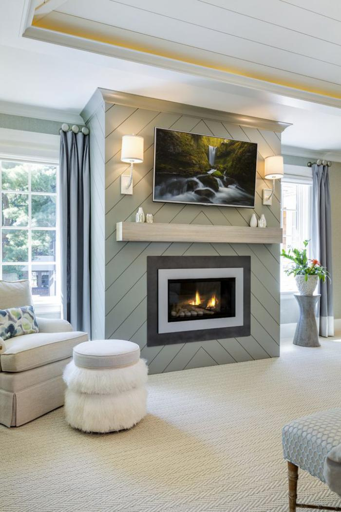 Comment d corer son manteau de chemin e galerie d 39 id es inspiratrices for Bedroom electric fireplace ideas