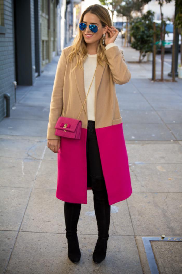 manteau-en-laine-bouillie-bicolore-camel-rose