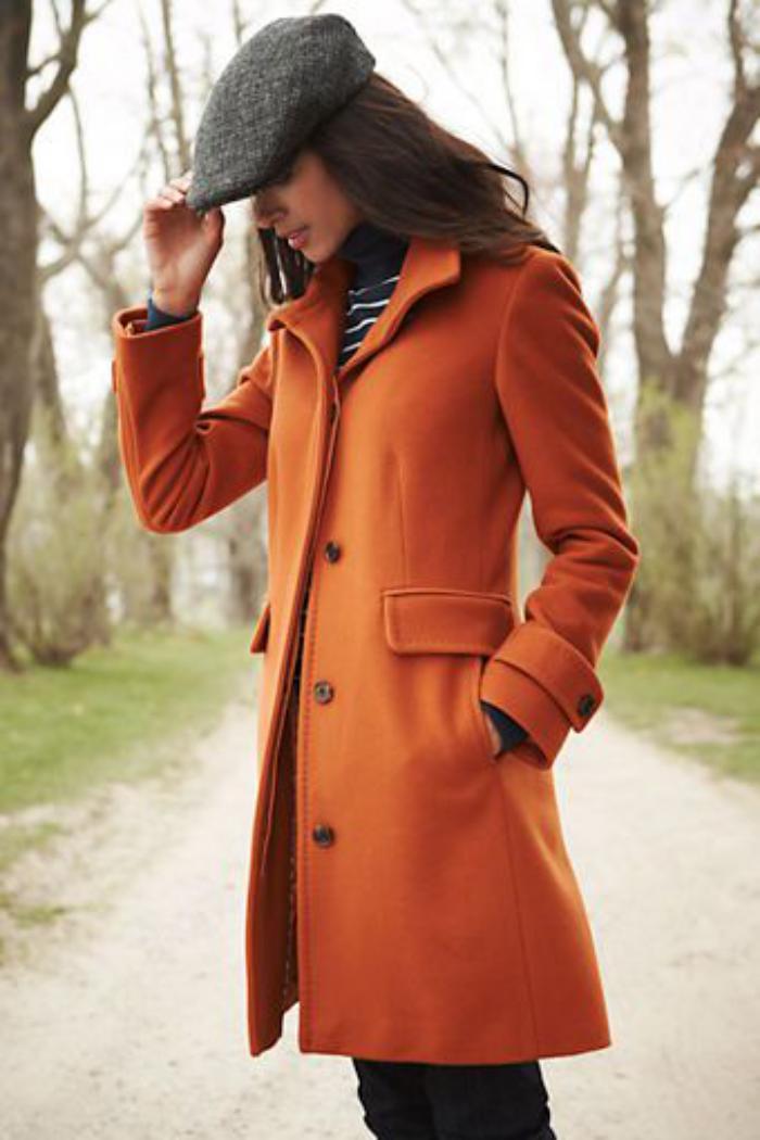 manteau-en-laine-bouillie-manteau-orange-boutons