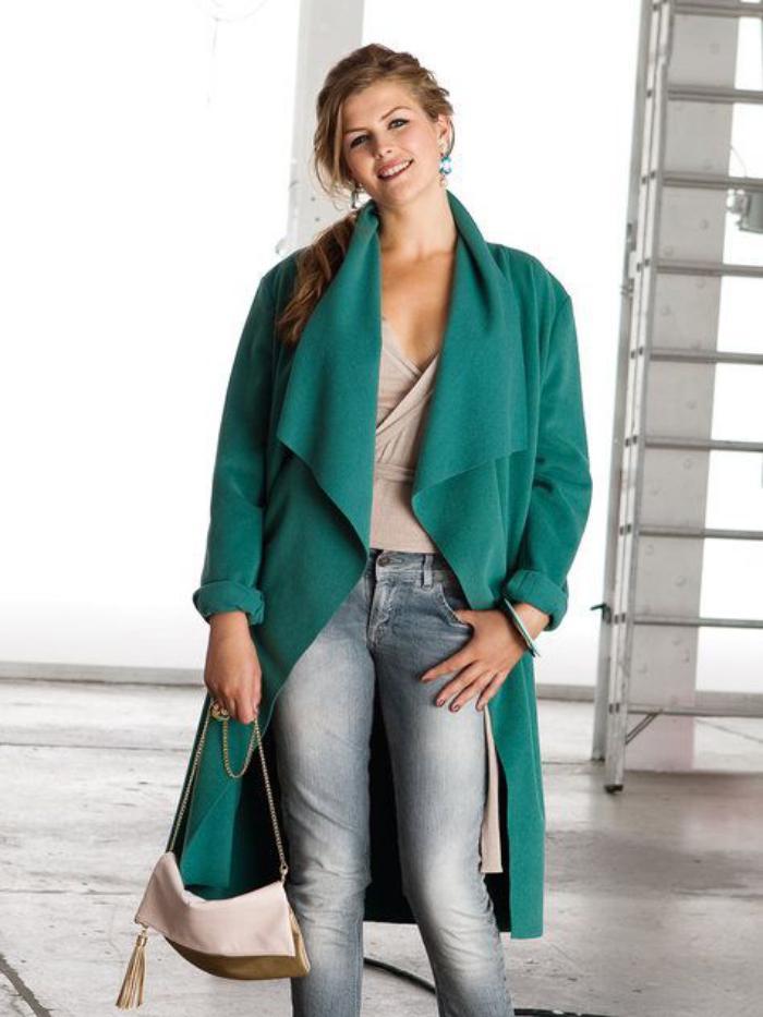 manteau-en-laine-bouillie-manteau-vert-rebords-lisses